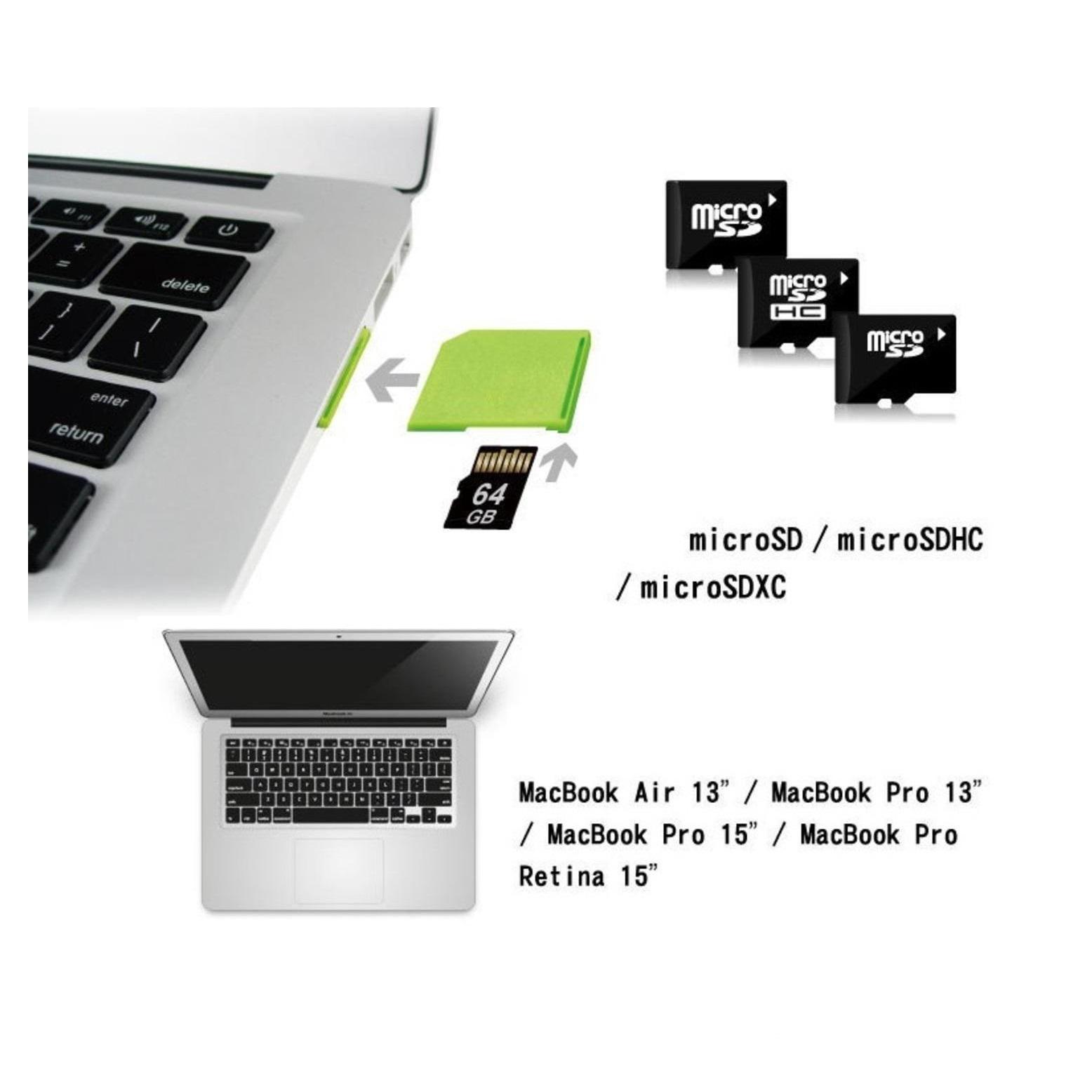 Vit Extra hårddisk, minne för MacBook Air 13 tum Minneskortläsare SD SDHC SDXC