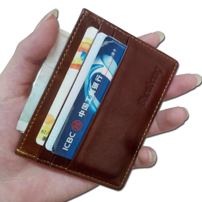Snygg och smart Läder Plånbok Korthållare Slim Design, Väska